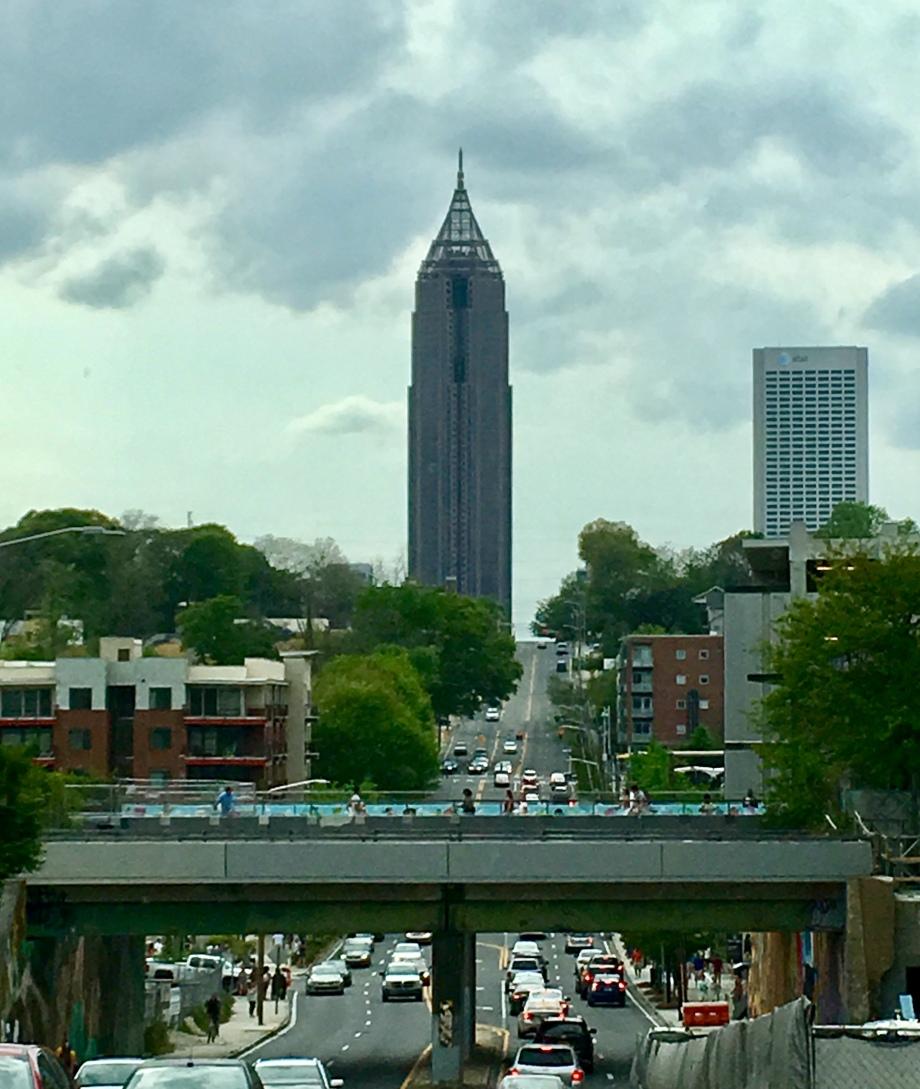 I love the Atlanta skyline from any direction