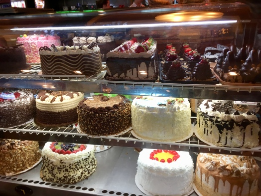 There are actually TWO of these cake cases and one with just pies and cheesecakes around the corner! n😱