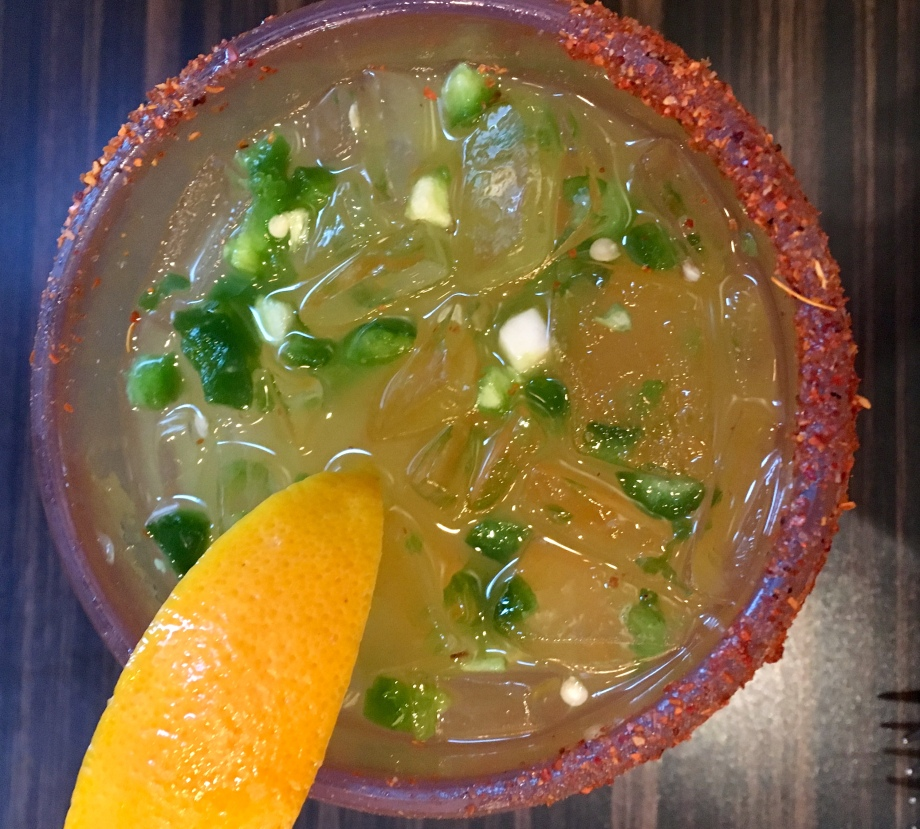 Hubby's favorite. Passion fruit jalapeno margarita