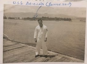 From his tour in Hawaii. My uncle ended up living there as a Navy chaplain