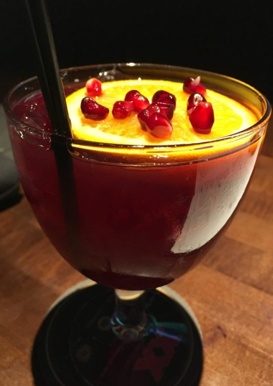 Pomegranate Sangria.