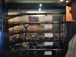 The one on top is a real Flintlock Musket. Color me impressed