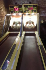 Skee ball! Oh yeah...disclaimer: alcohol does not improve skill level.