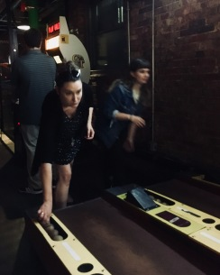 Let's shoot skee ball.