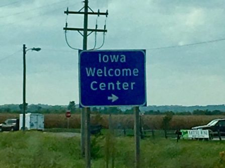 I always love our 5 min 'jaunt' through Iowa.