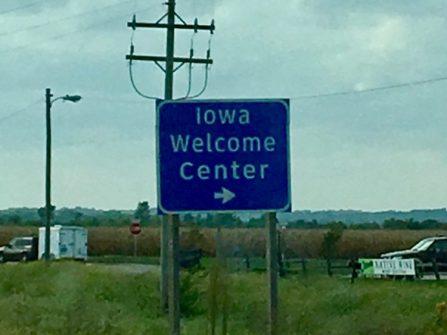I always love our 5 min 'jaunt' through Iowa.