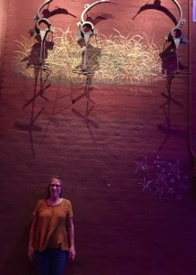The alleys are filled with street art. And amazing lighting.