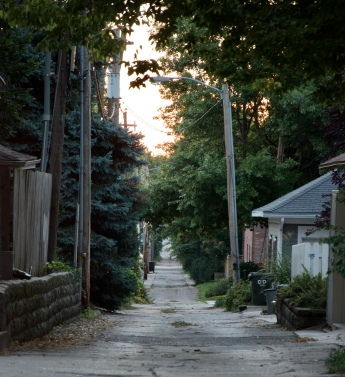 So many alleys, so little time for exploring.