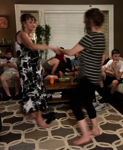 Mother and daughter have the moves!