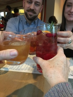 Cheers at The Optimist. Thanks Willard and Sarah!