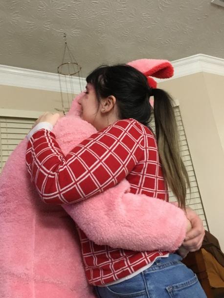 Here's a bunya hug!