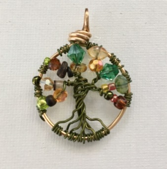 Tree of Life jewelry piece. One of many I have done