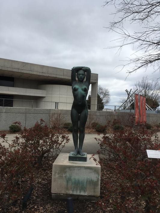 This sculpture dating back to the early 1900's was one of half a dozen placed around the museum.